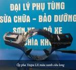 Ốp pha Vespa LX màu xanh cửu long